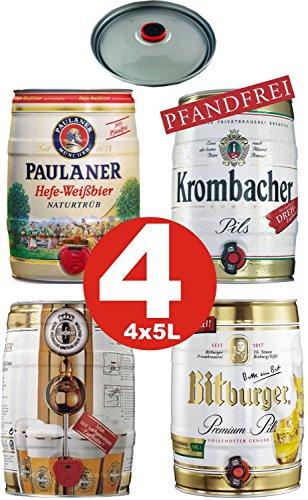 4x5 Liter Partyfass Verschiedene Sorten Alkoholgehalt siehe Beschreibung -