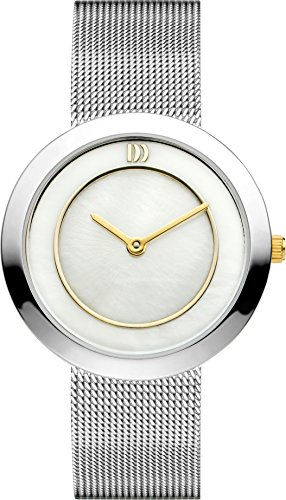 Danish Design Women's Quartz Watch with Mother of Pearl Dial Analogue Display and Silver Stainless Steel Bracelet DZ120225