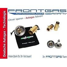 Premiumprodukt Furtzer/® LPG GPL Autogas Tankadapter M10 DISH kurz mit Stahlanschluss im Stoffbeutel