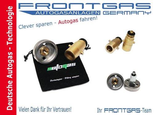 Preisvergleich Produktbild Tankadapter Adapter LPG Autogas Set M10 Dish / Bajonett+Adaptertasche