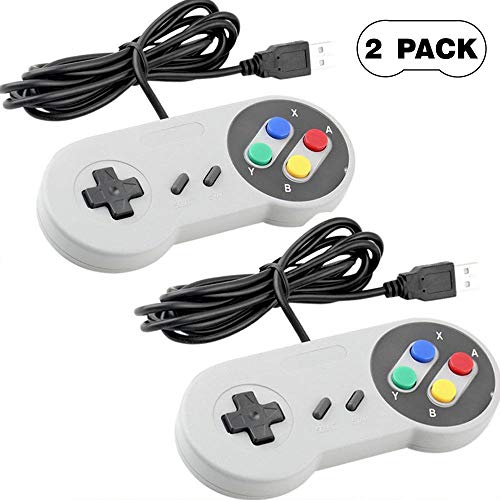 USB-Controller für Super Nintendo/SNES/Retro Famicom Game/Joypad/Gamepad für Windows/PC/Mac/Linux/Android/Raspberry Pi, 2 Stück