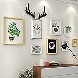 Paintsh Wohnzimmer Dekoration Malerei Sofa Hintergrund Wand Einfache und Moderne Atmosphäre Nordic Französisch zurück Wohnwand Wandbild Hirschkopf Mal