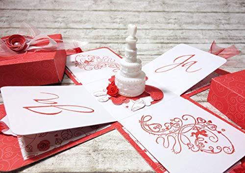 Geldgeschenk Explosionsbox zur Hochzeit Torte (Bilder Hochzeitstorten Von)