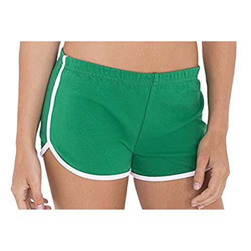 American Apparel - Short - Femme Kelly Green / White