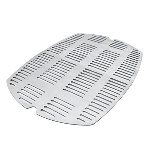 Onlyfire Outdoor Stainless Steel Casting Cooking Grates Fit Weber Q200 and Q2000 Series Grills