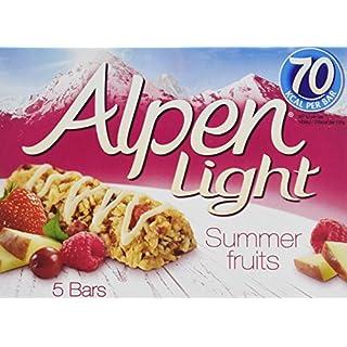 Alpen Light Summer Fruit Cereal 5 Bars (Pack of 10, Total 50)