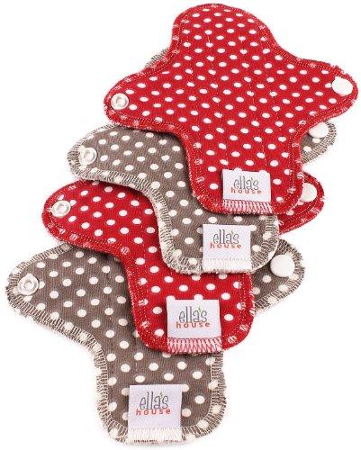 Moon Pads Mini waschbare Slipeinlage aus Bio-Baumwolle 4er-Set dots