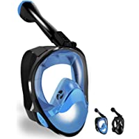 LBHMEI Tauchmaske Vollgesichtsmaske mit 180°Sichtfeld,Vollmaske Schnorchelmaske Tauchmaske mit Kamerahalterung, Anti-Fog…