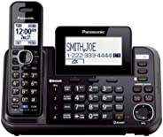 PANASONIC Link2Cell Cordless Phone Bluetooth Enabled with Answering Machine and 2 Phone lines - 1 Cordless Han