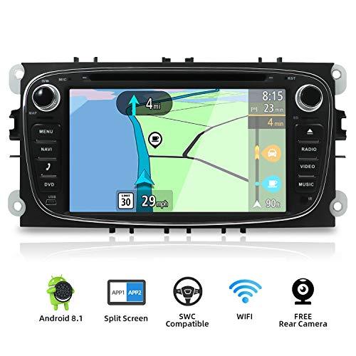 YUNTX Android 8.1 Autoradio para Ford Focus/Mondeo/S-MAX/Connect (2008-2011) | 2 DIN |Cámara...