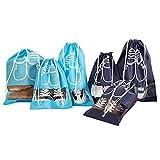FunYoung Schuhbeutel mit Zugband Wasserabweisend 10er Set