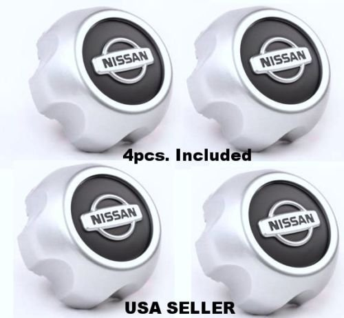 new-2000-2004-nissan-xterra-frontier-wheel-center-hub-cap-40315-7z100-set-of-4-by-replacement