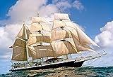 Unbekannt Puzzle 1000 Teile - Segelschiff - Segelboot - Dreimastschoner Dreimaster auf dem Meer hoher See Boot - Schiffe
