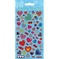 Paper Projects 01.70.04.016 Happy Hearts Sparkle Stickers Pack