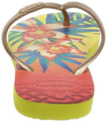 Havaianas Slim Tropical, Infradito Donna Multicolore (Light Yellow 0013)