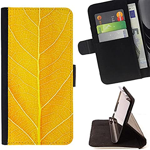 Momo Phone Case / Protettiva Custodia Flip Wallet in pelle - Autumn Mango Nature Forest Leaf - Huawei Ascend P8 Lite (Not for Normal P8)