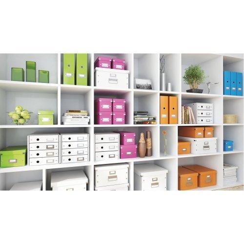 5 X Leitz 60470044 Wow Click and Store Magazine File - Orange