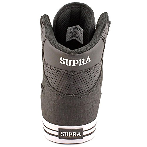 Supra Vaider S28058, Sneaker uomo Nero (Schwarz/Black Action White)