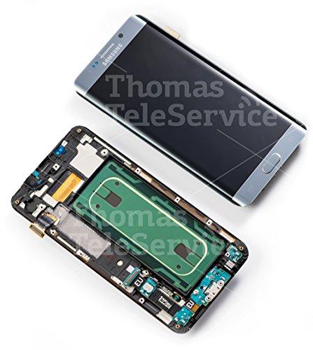 Original Samsung Galaxy S6 Edge Plus G928F G928 LCD AMOLED Display Touchscreen Touch Digitizer + Rahmen Silver Silber GH97 - 17819D S6-lcd