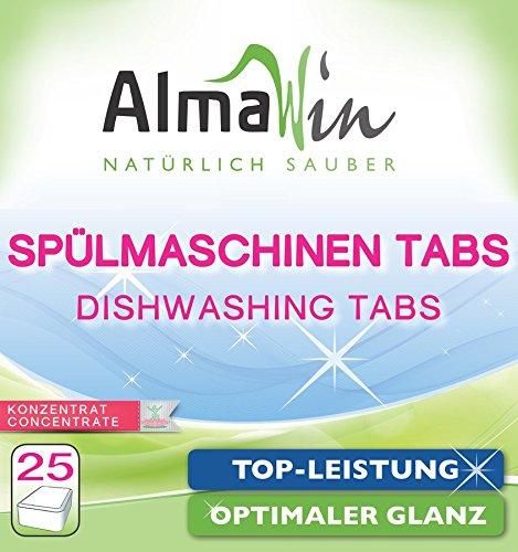 25 tabletas orgánicas AlmaWin para lavavajillas