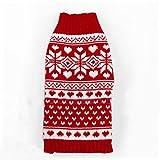 Weihnachten Schneeflocke Gesichtet Hund Pullover Fuer Haustier Hund Rot Und Weiss Groesse M