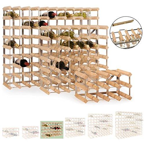 Weinregal / Flaschenregal System TREND, für 30 Fl., Holz Kiefer hellbraun gebeizt, komplett...