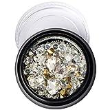 Nägel Nägel Strasssteine Strass Diamanten Kristall Nail Art DIY Zubehör der Dekoration S weiß