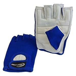 Best Body Nutrition Erwachsene Power Weiß Größe S Handschuh, Blau, S