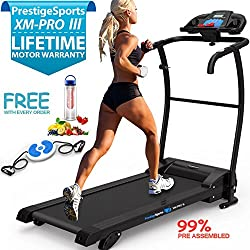 XM-PROIII TREADMILL - NEW 2017 Model Motorised Running Machine, Lightweight Folding
