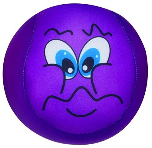 Ball mit Smiley Plüsch lila 15cm