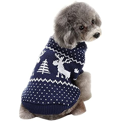 YiJee Halloween Natale Animale Domestico Cane Maglione Cranio Fiocco di Neve Design