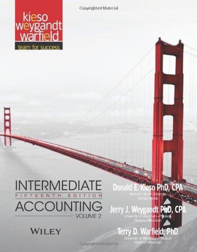 Intermediate Accounting (Volume 2) by Donald E. Kieso (2013-03-11)