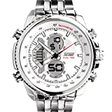 Skmei Analog-Digital White Dial Men's Wa...