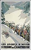 Herbé TM Poster/Reproduction 30x42cm d1 Affiche Vintage/Ancienne Ski Luge St Pierre de Chartreuse...