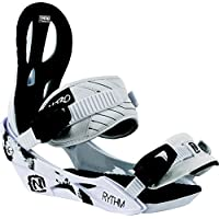 Attacchi Nitro Snowboards donna Rythm BDG 16, Donna, Bindung Rythm BDG 16, bianco, S - All Mountain Snowboard Attacchi