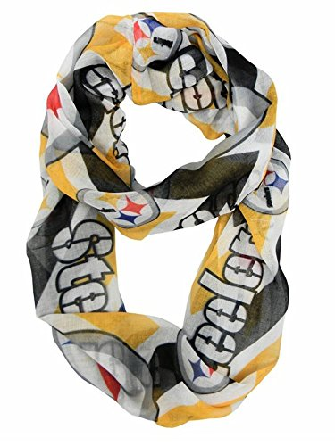 Littlearth NFL Sheer Chevron Infinity Schal, Pittsburgh Steelers Womens Fashion-infinity-schal