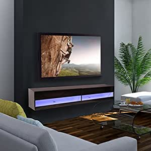 wall hung tv cabinet homcom 180cm high gloss wall mounted tv stand cabinet 28062