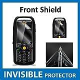 Caterpillar CAT B25Bildschirmschutzfolie Vorderseite unsichtbar Folie (vor Shield) Military Grade Schutz Exklusive zu Ace Fall