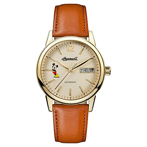 Ingersoll Disney Women's The New Haven Union Quartz Watch with Cream Dial and Brown Leather Strap ID01101