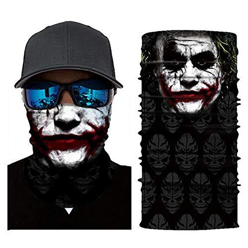 wetour Multifunktionstuch Bandana Schlauchtuch Gesichtsmaske, Clown Taro-Horror ür Halstuch, Face Shield, Gesichtsmaske Motorrad, Fahrrad und Skifahren- Verschiedene Muster