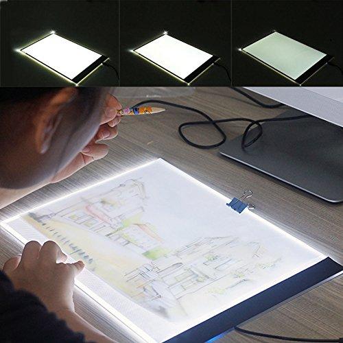 Generic.. Kupplungsschlauch A4LED SLIM Art Cra-Zeichnen Tracing FT Zeichnen Tattoo Light Light B Art Craft Lampe Pad Tabl Box Pad Board Pad Pad Tisch..