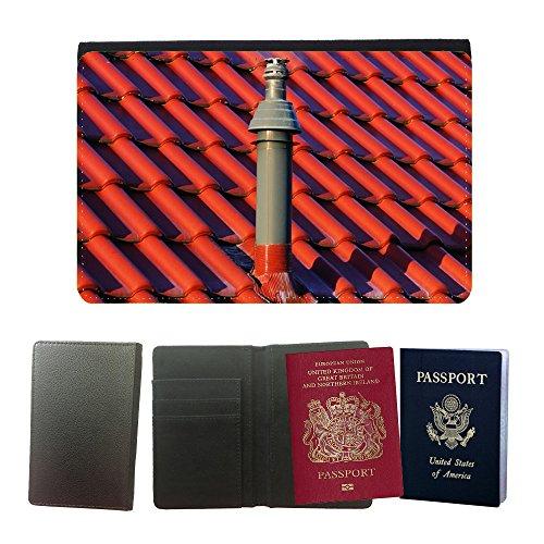 PU Pass Passetui Halter Hülle Schutz // M00154517 Hauptdach-Kamin Gasheizung Fliesen // Universal passport leather cover