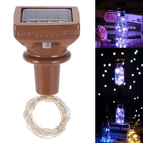 DeeCozy Weinflasche Lichter,Lichterkette,Stimmungslichter,LED Flaschenlicht farbigen Sternenhimmel Kork Lichter solarbetriebene Kupfer Lichterketten für Weinflaschen mit DIY/Dekor/Party/Hochzeit
