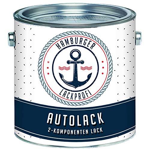Hamburger Lack-Profi 2K Autolack MATT Graualiminium RAL 9007 Grau im Set Decklack - Hochdeckend - Rostschützend - Kratz- und schlagfest (2,5 kg)