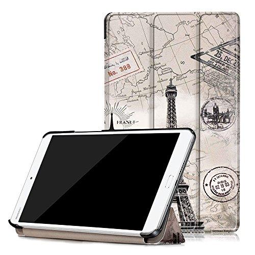 Preisvergleich Produktbild Skytar Schutzhülle für Huawei M3 MediaPad,Huawei M3 LTE Cover,Schutzhülle in PU Leder Flip Stand Smart Case Cover für Huawei MediaPad M3 8.4 Zoll Tablet Hülle,Vintage-Turm