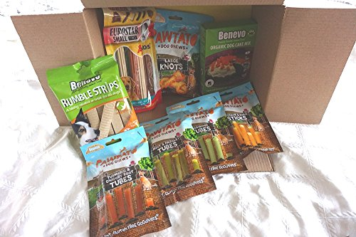 Paradise Pets THE ULTIMATE VEGAN VEGETARIAN CHRISTMAS BIRTHDAY DOG PAMPER HAMPER FILLED WITH VEGAN TREATS & VEGAN DOG CAKE BAKING KIT