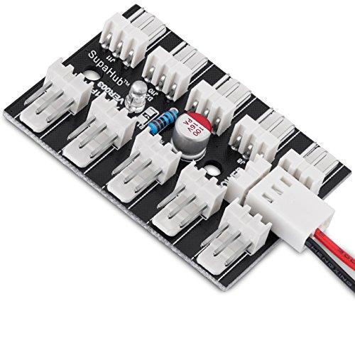 SupaHub ventilateur d'ordinateur hub, ventilateur répartiteur pour connecter 10ventilateurs PWM, comprend 3broches câble d'alimentation