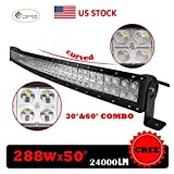 288W 50inch CREE Curved Led Light Bar Sp...
