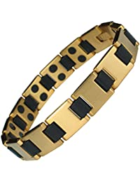 MPS NORTHIA Titanium Magnetic Bracelet for Women with SWAROVSKI® Clear Crystals + Free Resizing Tool + Free Gift Wallet 3mWquBm