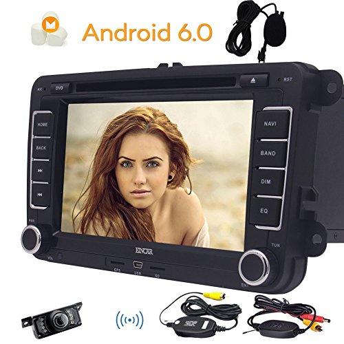 EinCar 7 Pouces sous Android 6.0 Headunit Double Din Autoradio Car Stereo Radio avec Lecteur DVD et WiFi int¨¦GR¨¦ Soutien GPS/Bluetooth / T¨¦l¨¦Phone Mirroring / 1080P HD/SD USB/Condition f¨¦